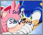 I Support SonAmy stamp by katamariluv