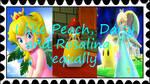 I Like Peach, Daisy, and Rosalina Equally stamp by katamariluv