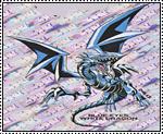 Blue Eyes White Dragon stamp by katamariluv