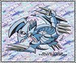 Blue Eyes Toon Dragon stamp by katamariluv