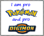 Pro Pokemon and Digimon stamp by katamariluv