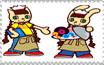 Nyami and Mimi stamp by katamariluv