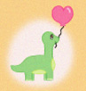 Pixel Balloon Dinosaur icon by katamariluv