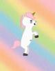 Pixel Rainbow Unicorn icon by katamariluv