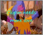 Clopin Needs More Love stamp by katamariluv