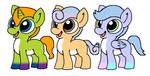 NYP Bright Eyes Ponies(3/3 open) by katamariluv