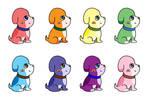 Rainbow Puppy Dog OTA(7/8 open) by katamariluv