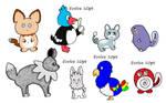 NYP Pokemon Variants(4/8 open) by katamariluv