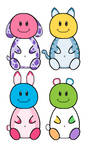 NYP Smiley Face Pop Pets(3/4 open) by katamariluv