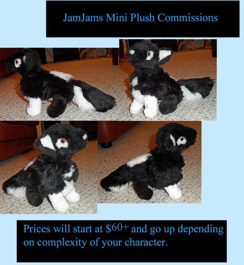 Mini plush commission Info and Terms of Service by JamJams