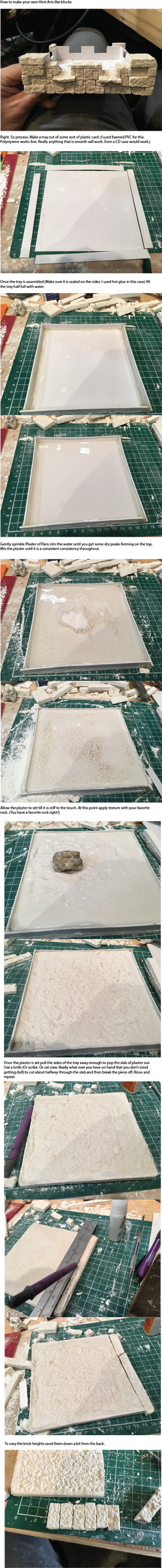 Tutorial on making Plaster of Paris Blocks