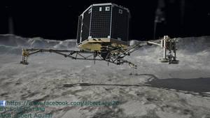 Philae Lander Touchdown to Comet