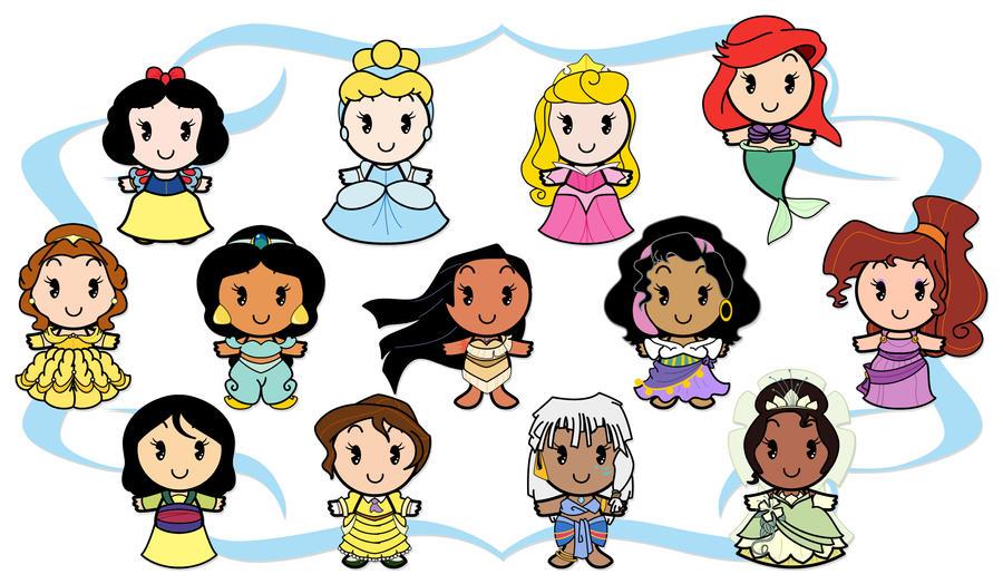 disney cuties heroines by ciro1984 on deviantart rh ciro1984 deviantart com belle coloring disney page belle coloring disney page - Disney Cuties Coloring Pages