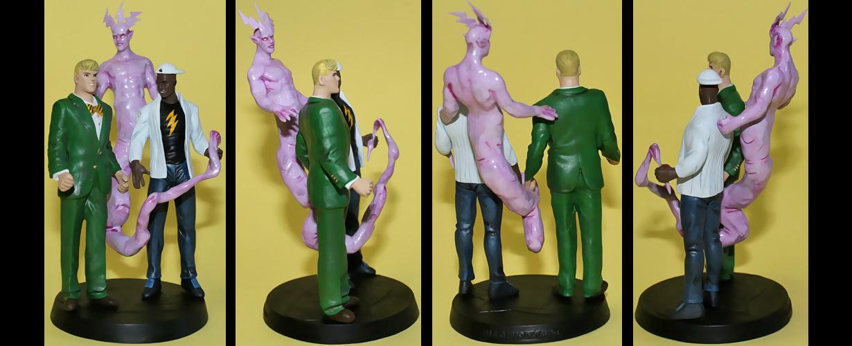 Johnny and Jakeem Thunder + Thunderbolt custom fig by Ciro1984