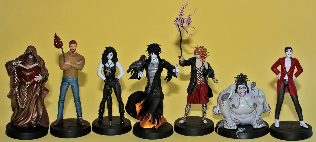 Neil Gaiman's The Endless custom figurine set by Ciro1984