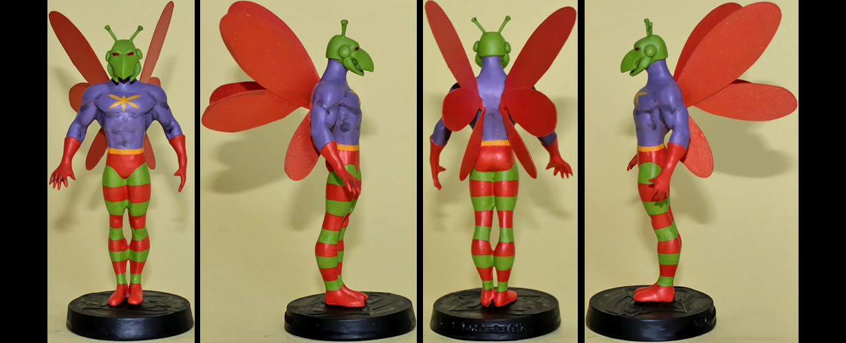 Killer Moth custom figurine by Ciro1984