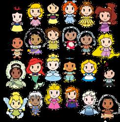 Disney Cuties - Human Heroines by Ciro1984
