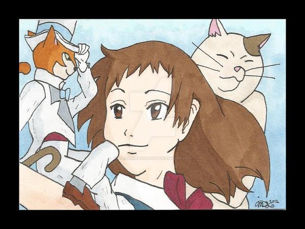 Studio Ghibli Card Challenge #3: The Cat Returns by ChiisaiKabocha17