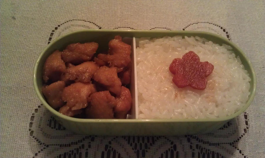 My Fifteenth Bento: Tier One by ChiisaiKabocha17