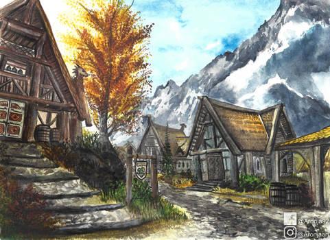 Whiterun (Watercolor)