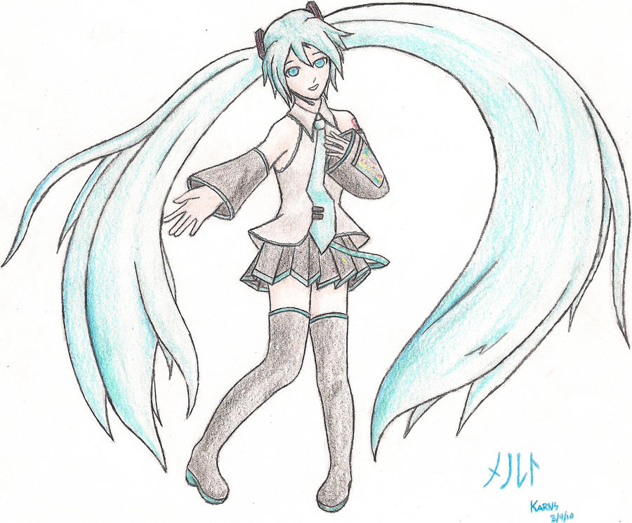 how to draw hatsune miku step by step