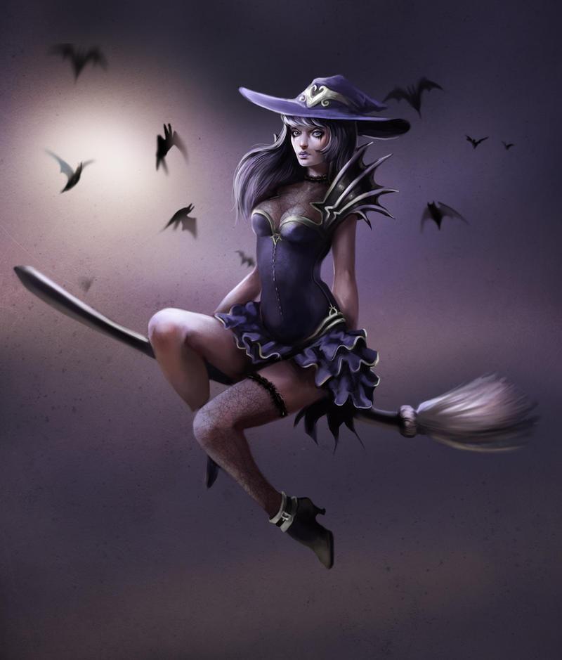 Ведьмы картинки красивые на метле для фотошопа