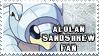Alolan Sandshrew Fan Stamp by NLPZDudeYT