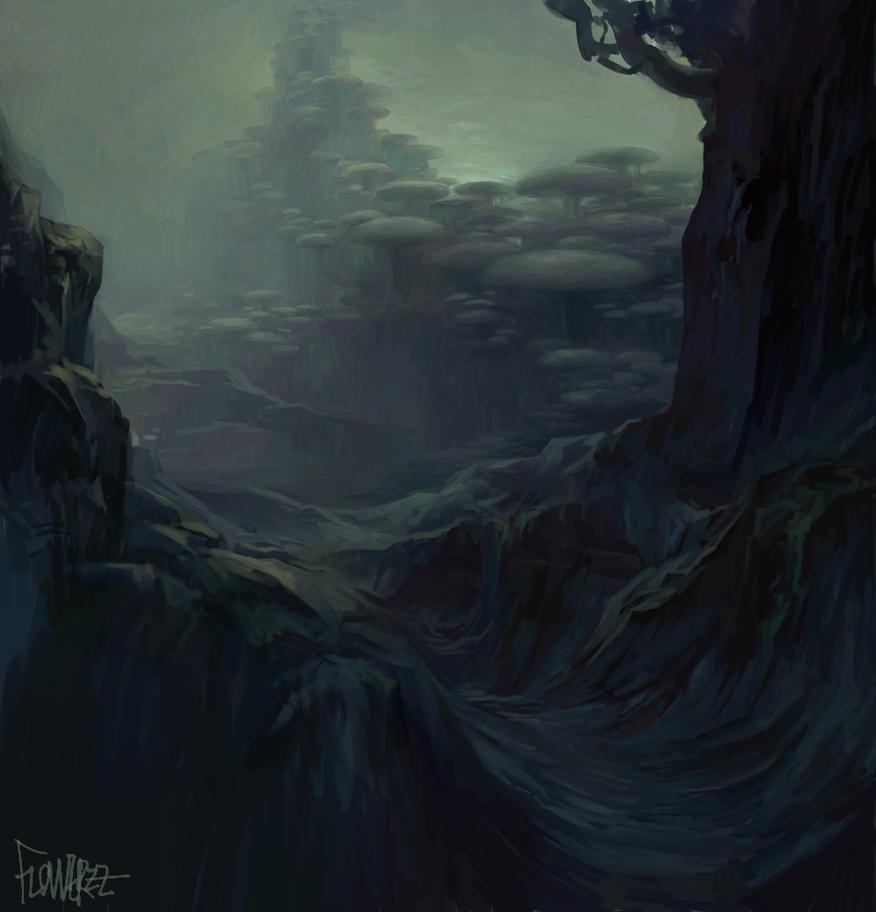 Mushroom Forest 1 by FLOWERZZXU