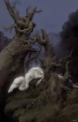 White dragon detail by FLOWERZZXU