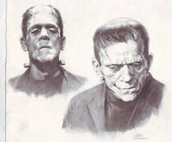 Frankenstein sketch study