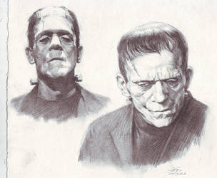 Frankenstein sketch study