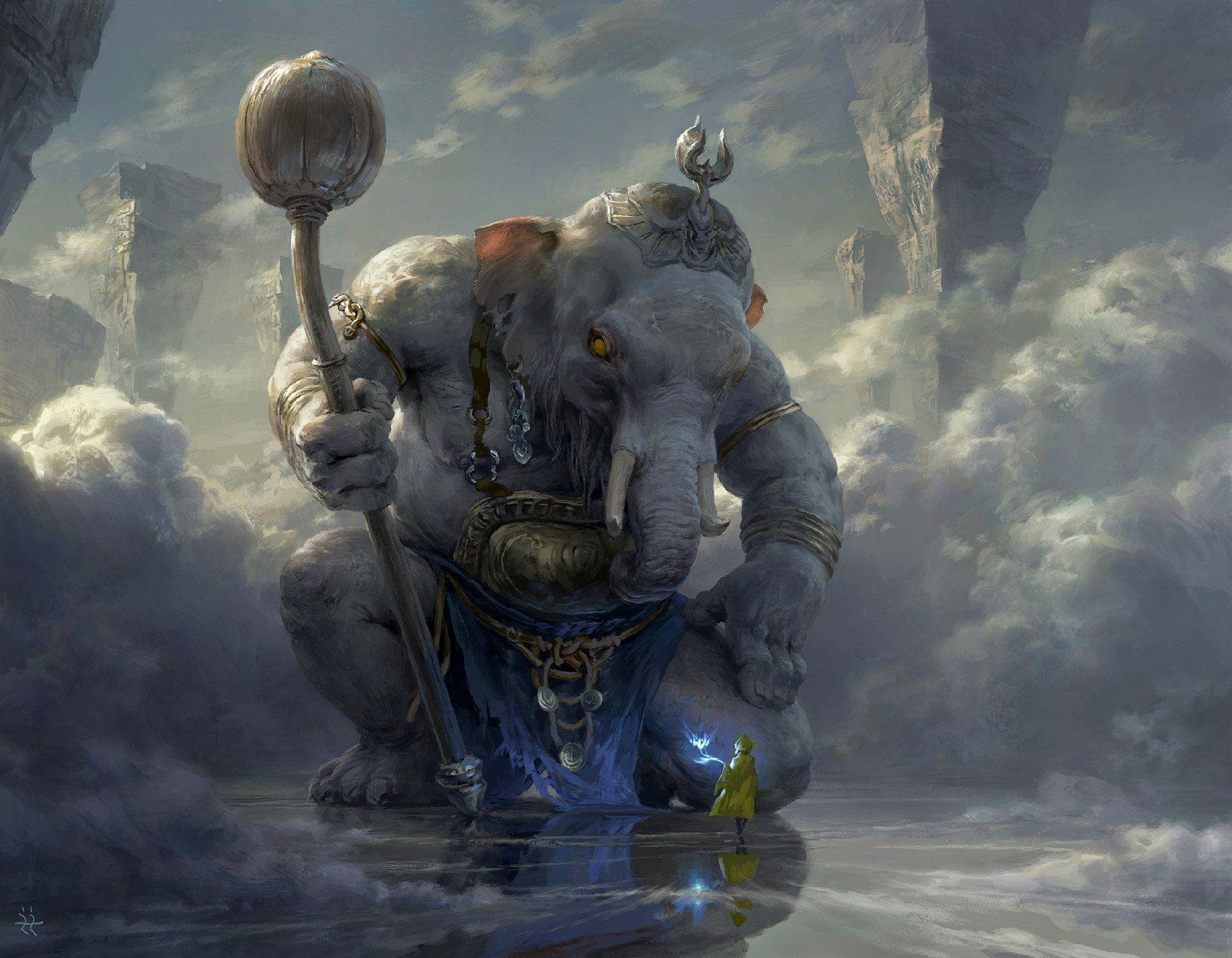 Ilustraciones sueltas chulas encontradas por el internete - Página 2 Puxian_and_the_white_elephant_by_flowerzzxu-d98gubo