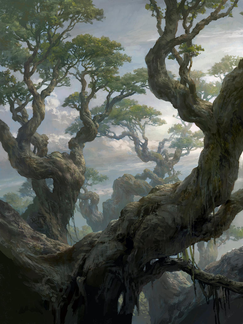 Magic the Gathering Basic Lands Forest by FLOWERZZXU