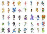 Pokemon Gijinka Sprites