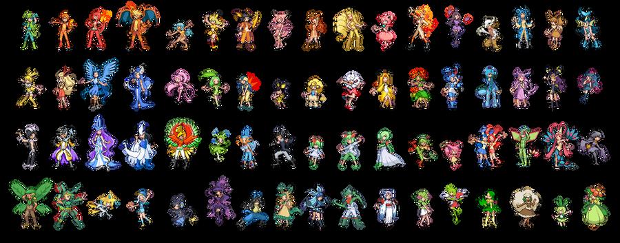Pokemon Gijinka Sprites: Take 2
