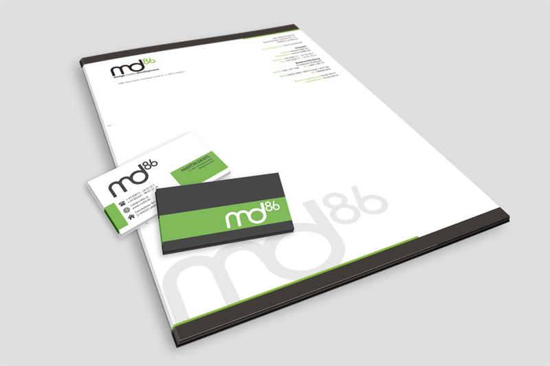 Print - vcard, businessletter md86 by md86design