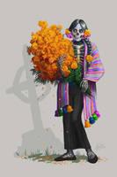 Catrina Coqueta by Ilustrandole