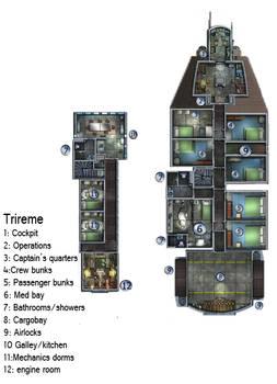 Trireme Deckplan