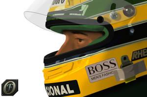 Ayrton Senna Toon by FR3D3RIK