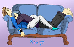 Zemyx - Sleeping Together by SakuraKeyblader78