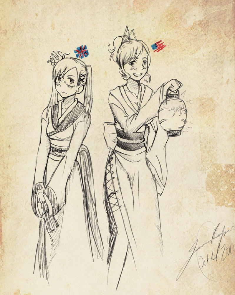 Kimonos... by SakuraKeyblader78
