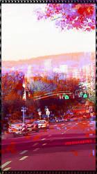Portland On Fire by Joe Giucastro by joegiu