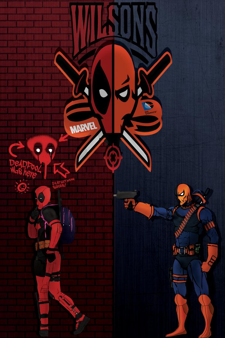 Deadpool Vs Deathstroke By Wigijigjed