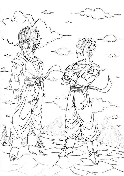 Goku Y Freezer Dibujos Para Colorear Imagui