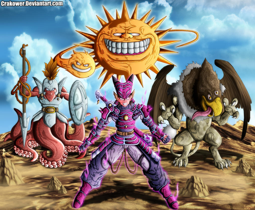 D Line Drawings Quest : Fan art dragon quest hero monster team by crakower on