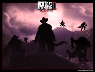 Fanconcept Red dead redemtion 2 : Full bloody moon by Crakower