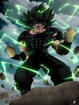 Fan art Broly: Ikari power max by Crakower