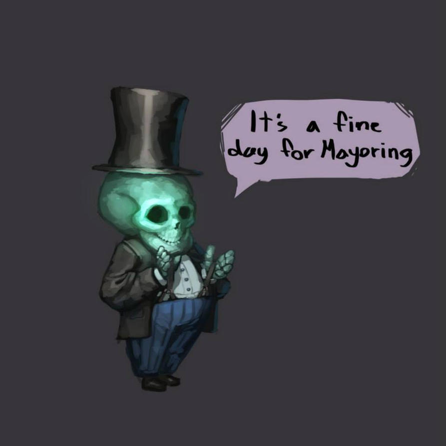 Skeleton Mayor by Immp