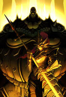 Dragonslayer Ornstein and Executioner Smough by Immp