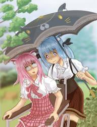 Cat Umbrella by llewssor by kitsuneonwheelz
